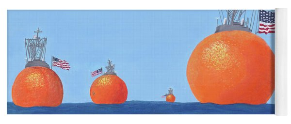 Naval Oranges Yoga Mat