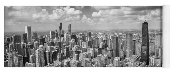 Near North Side And Gold Coast Black And White Yoga Mat