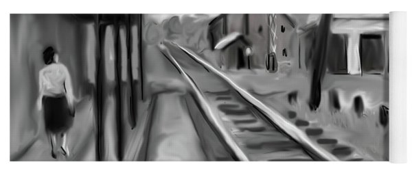 Needham Train Station 1959 Yoga Mat