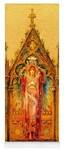 Neo Gothic Jesus Christ Mosaic Panel  Louis Comfort Tiffany Yoga Mat