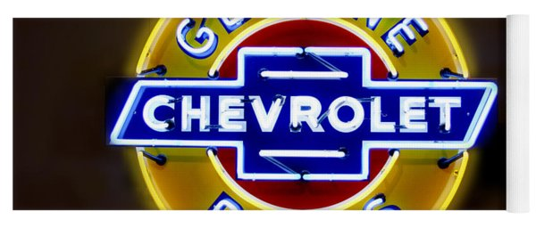 Neon Genuine Chevrolet Parts Sign Yoga Mat