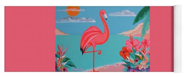 Neon Island Flamingo Yoga Mat