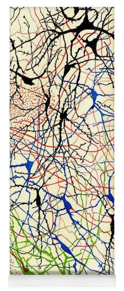 Nerve Cells Santiago Ramon Y Cajal Yoga Mat
