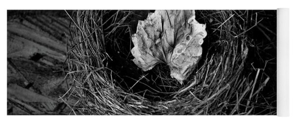Nest In Time Black And White Yoga Mat