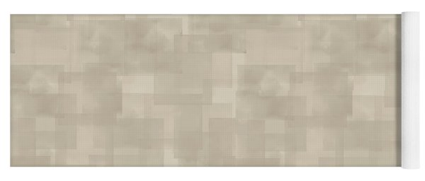 Neutral Brown Abstract Pattern Yoga Mat