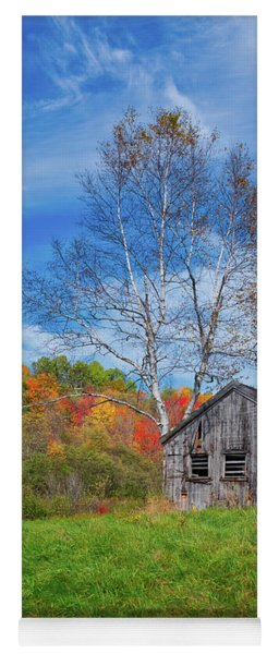 New England Fall Foliage Yoga Mat
