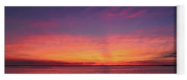 New Jersey Shore Sunset Yoga Mat