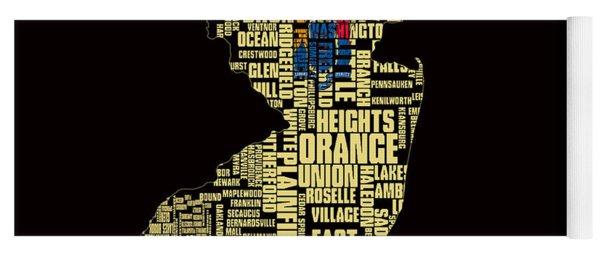 New Jersey Typographic Map 4g Yoga Mat