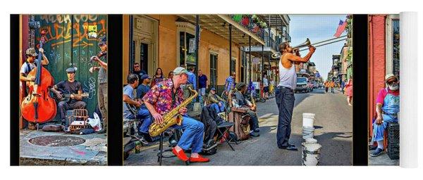 New Orleans Street Musicians Triptych Yoga Mat