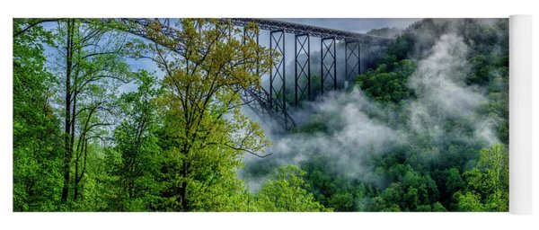 New River Gorge Bridge Morning  Yoga Mat