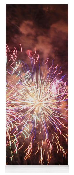 New Year's Fireworks Yoga Mat