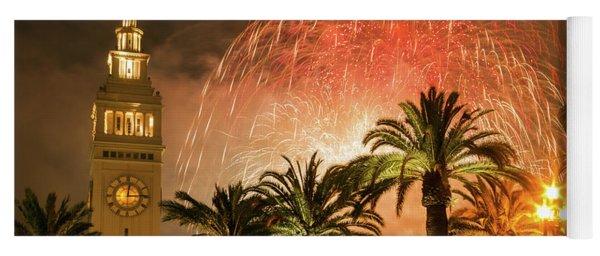 New Years Fireworks Finale San Francisco Yoga Mat