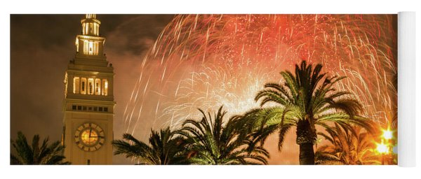 New Years Fireworks Finale San Francisco Yoga Mat