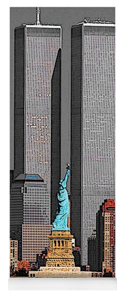 New York 911 Memory - Twin Towers And Statue Of Liberty Yoga Mat
