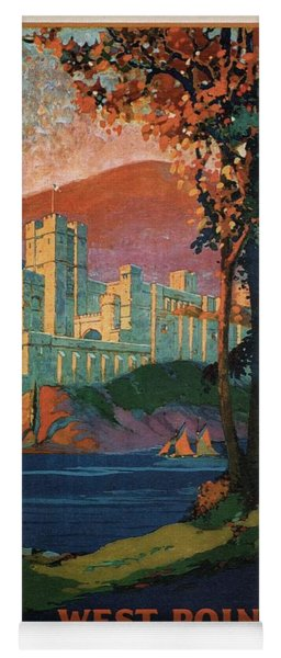 New York Central Lines - West Point - Retro Travel Poster - Vintage Poster Yoga Mat