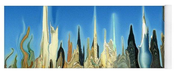 New York City Skyline 2100 - Modern Artwork Yoga Mat