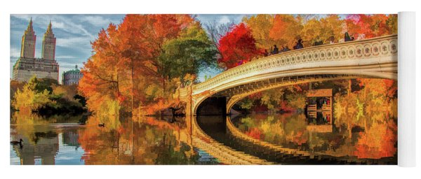 New York City Central Park Bow Bridge Yoga Mat