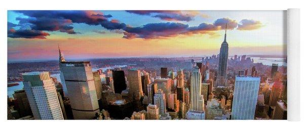 New York City Downtown Manhattan Yoga Mat