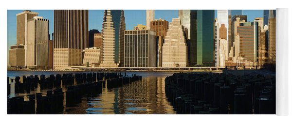 New York City Morning Reflections - Impressions Of Manhattan Yoga Mat
