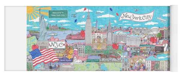 New York City On A Sunny Day Yoga Mat