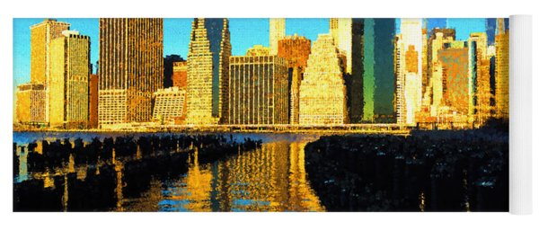 New York City Skyline - Impressions Of Manhattan Yoga Mat