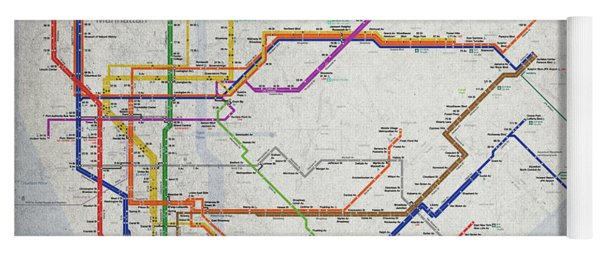New York City Subway Map Yoga Mat
