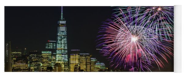 New York City Summer Fireworks Yoga Mat