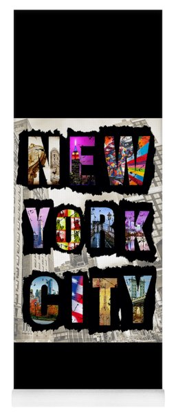 New York City Text Yoga Mat