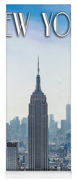 New York Classic View With Text Yoga Mat