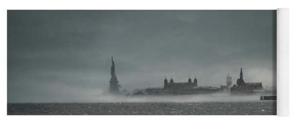 New York Harbor With Fog Yoga Mat