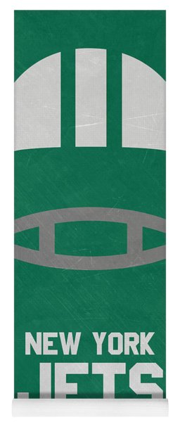 New York Jets Vintage Art Yoga Mat
