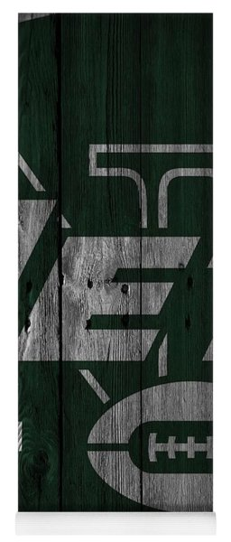 New York Jets Wood Fence Yoga Mat