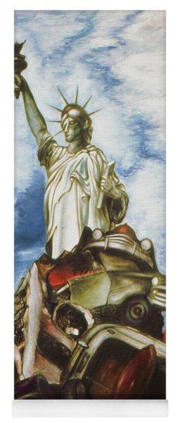 New York Liberty 77 - Fantasy Art Painting Yoga Mat