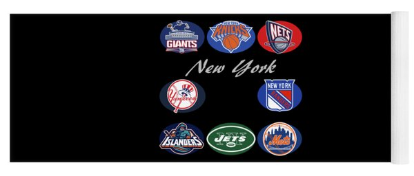 New York Professional Sport Teams Collage  Yoga Mat
