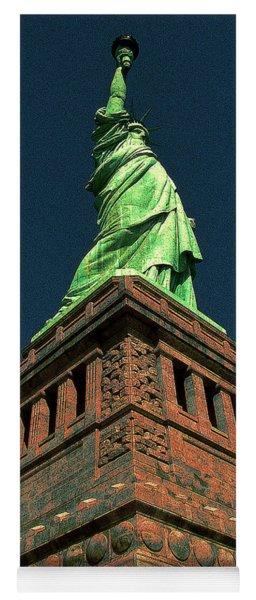 New York Statue Of Liberty Pop Art Yoga Mat