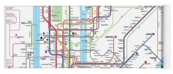 New York Subway Map Yoga Mat