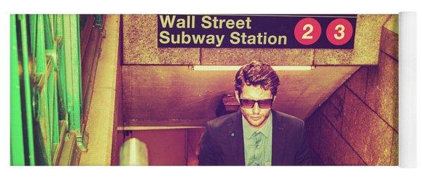New York Subway Station Yoga Mat