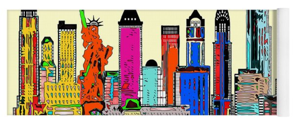 New York - The Big City Yoga Mat