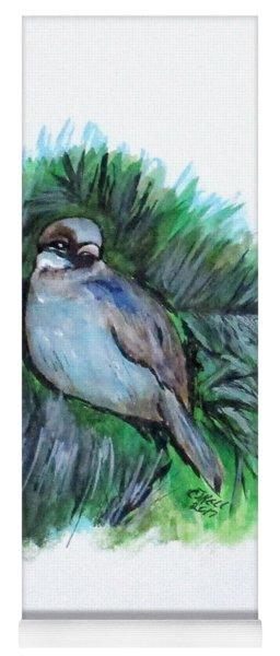 New York Winter Sparrow Yoga Mat