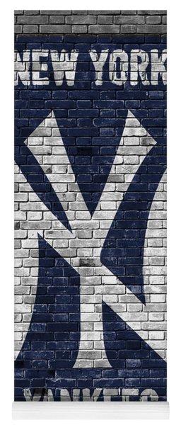 New York Yankees Brick Wall Yoga Mat
