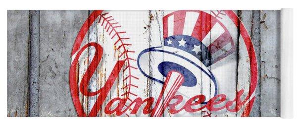 New York Yankees Top Hat Rustic Yoga Mat