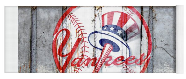 New York Yankees Top Hat Rustic Yoga Mat