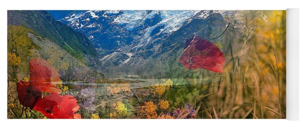 New Zealand Southern Alps Montage Yoga Mat