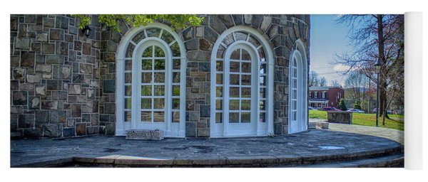 Newburgh Downing Park Shelter House Side View Yoga Mat