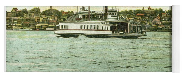Newburgh Steamers Ferrys And River - 24 Yoga Mat