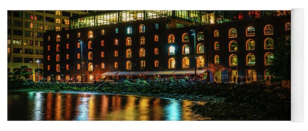 Yoga Mat featuring the photograph Newly Gentrified Warehouse At Night by Chris Lord