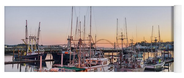 Newport Harbor At Dusk Yoga Mat