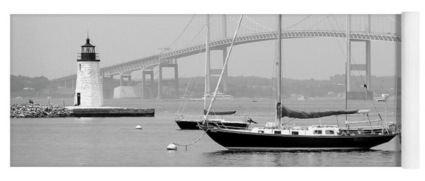 Newport, Rhode Island Serene Harbor Scene Yoga Mat