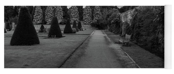 Yoga Mat featuring the photograph Newstead Abbey Country Garden Gravel Path by Scott Lyons