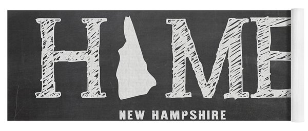 Yoga Mat featuring the mixed media Nh Home by Nancy Ingersoll